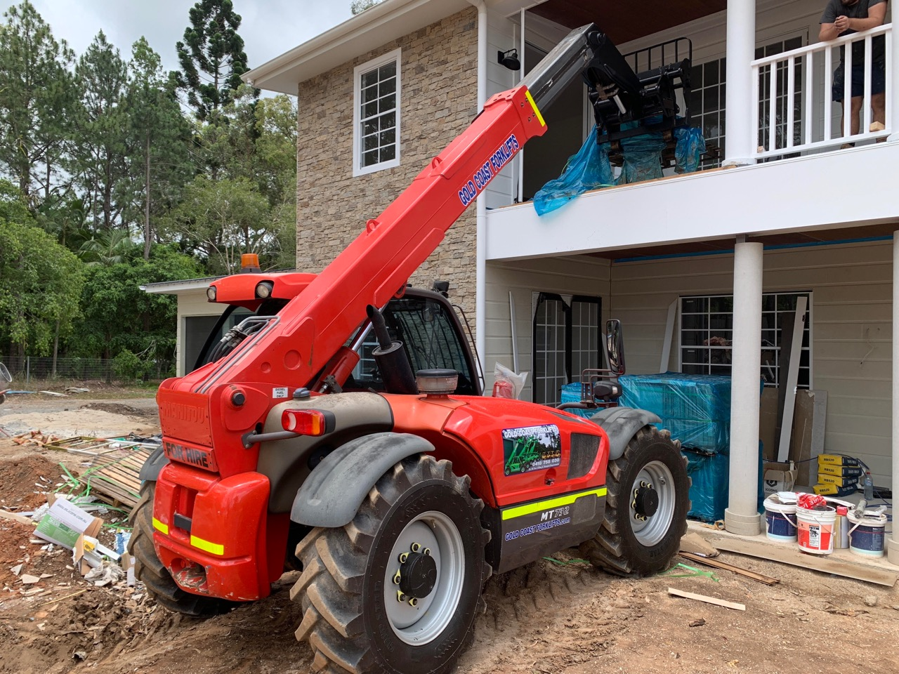 Our 732 Loading Tiles Onto A Balcony Telehandler Section
