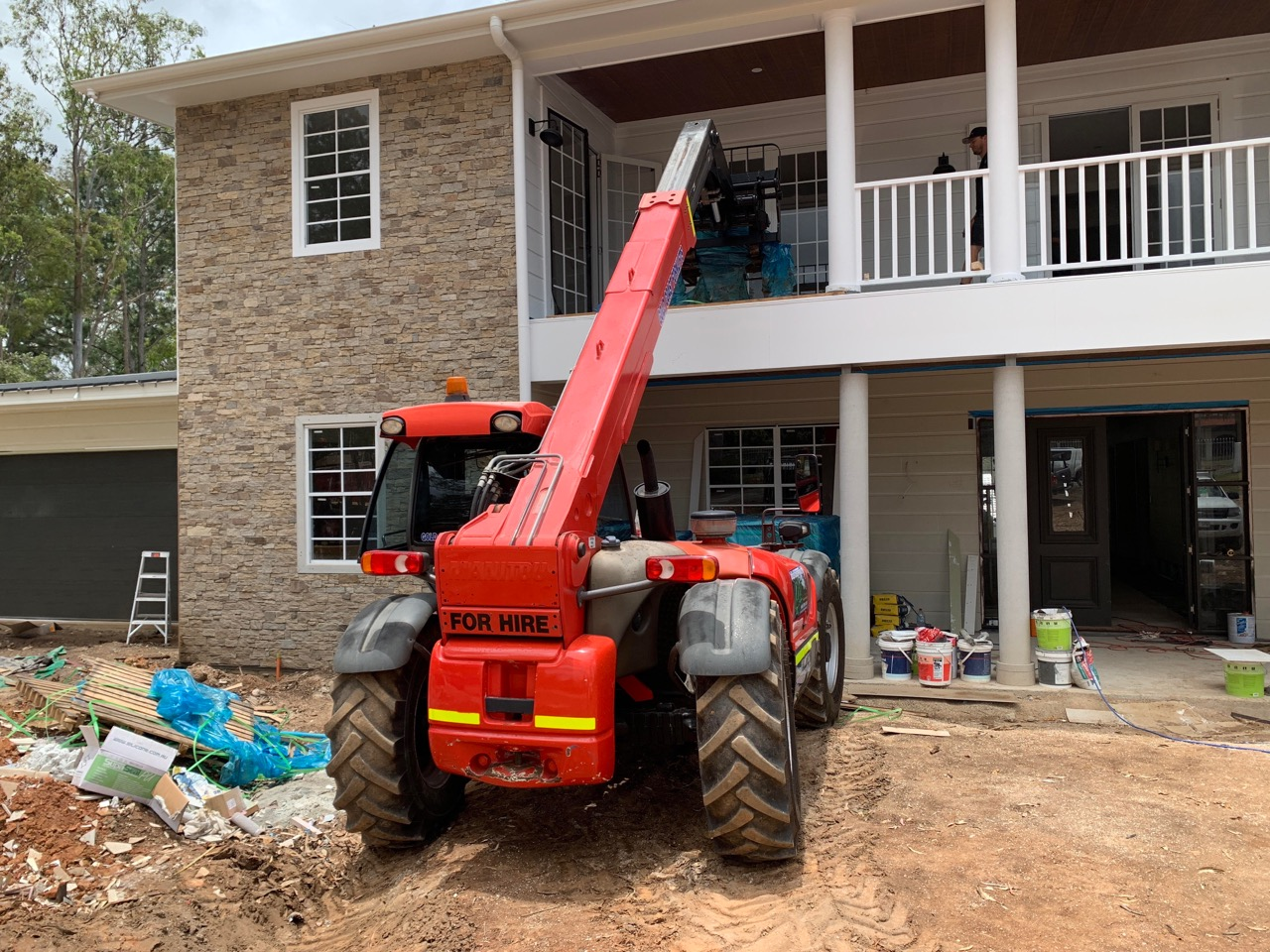 Our 732 Loading Tiles Onto A Balcony Telehandler Section 2